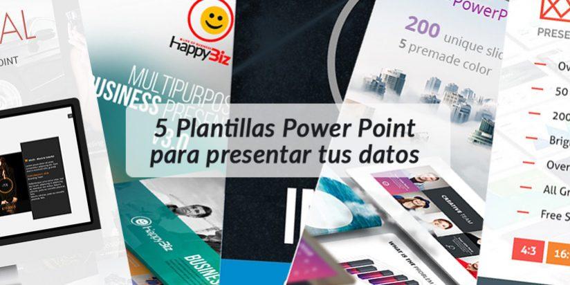 5 Plantillas Power Point para presentar tus datos analíticos