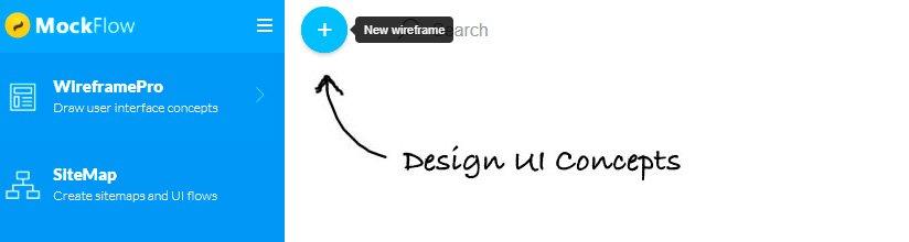 Creando un nuevo Wireframe en Mockflow
