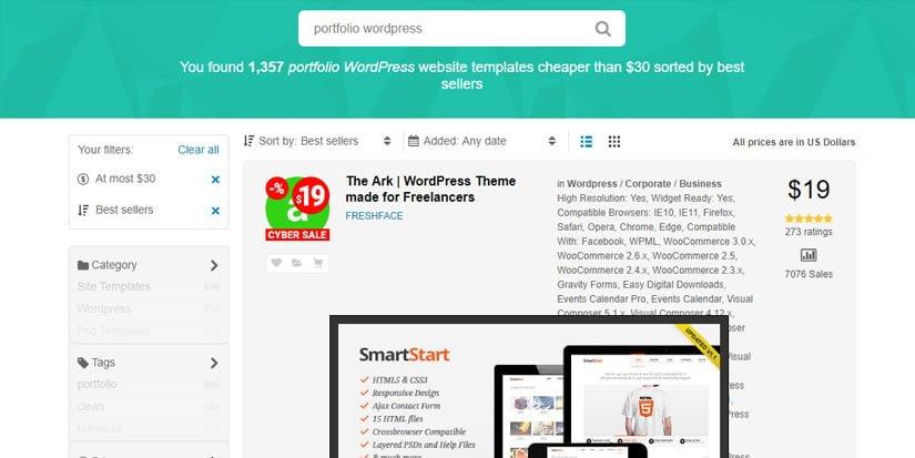 Los mejores temas para crear un portfolio en wordPress