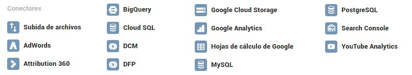 Conectores de Google Data Studio