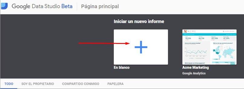 Cómo agregar un nuevo informe en Google Data Studio