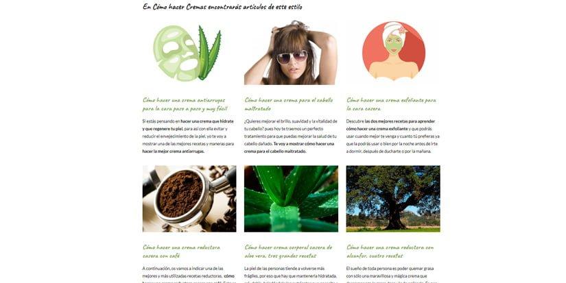 Blog sobre cómo hacer cremas naturales para la piel