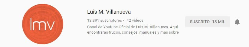 Canal de youtube sobre marketing digital de Luis Villanueva