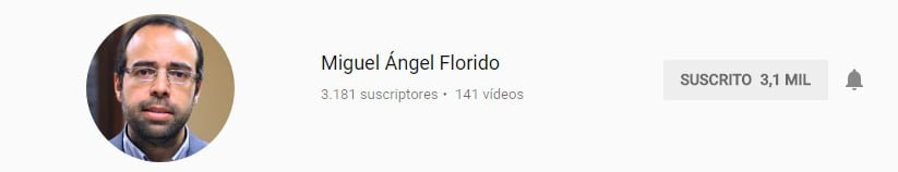 Canal de youtube sobre marketing digital de Miguel Florido