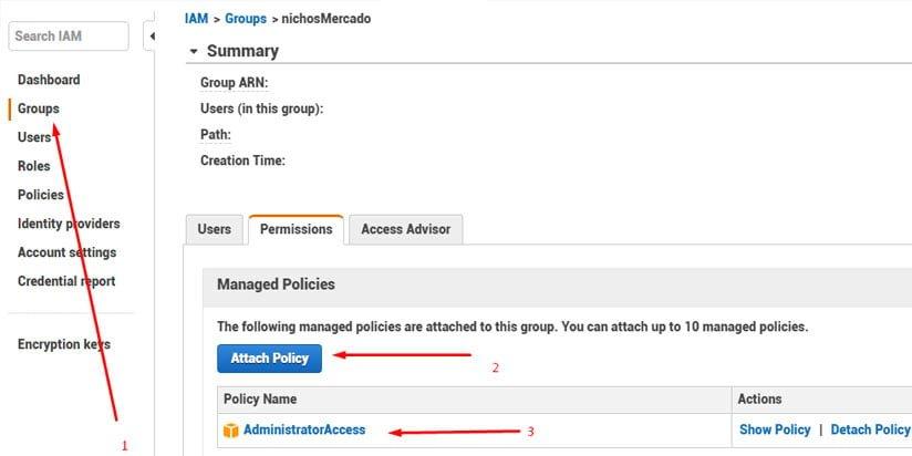 Lo primero será crear un grupo de usuarios