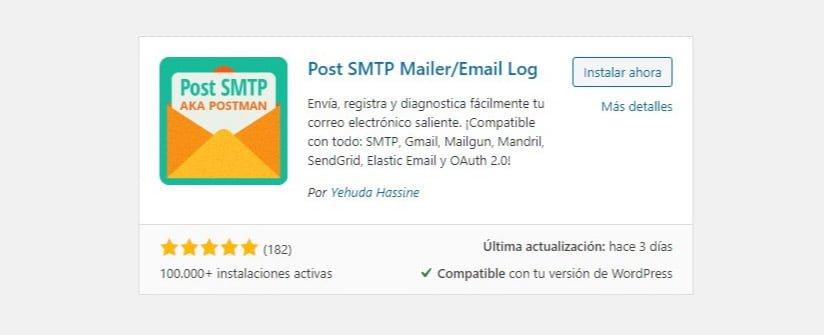 Plugin para configurar la salida de emails de wordpress